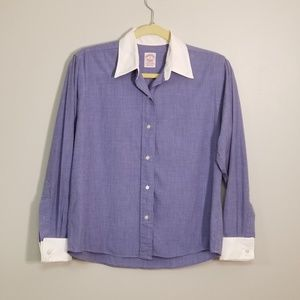 Brooks Brothers Two Tone Button Top